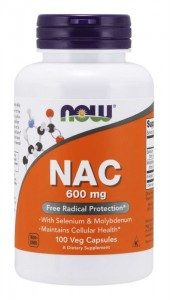 NOW FOODS NAC N-Acetyl Cysteine 600mg, 100 vcaps.